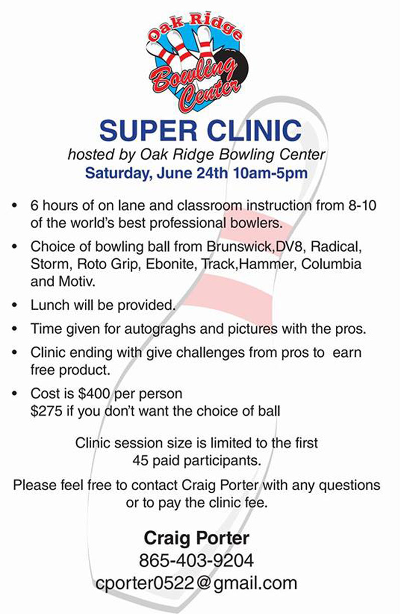 Oak Ridge Bowling Center Super Clinic